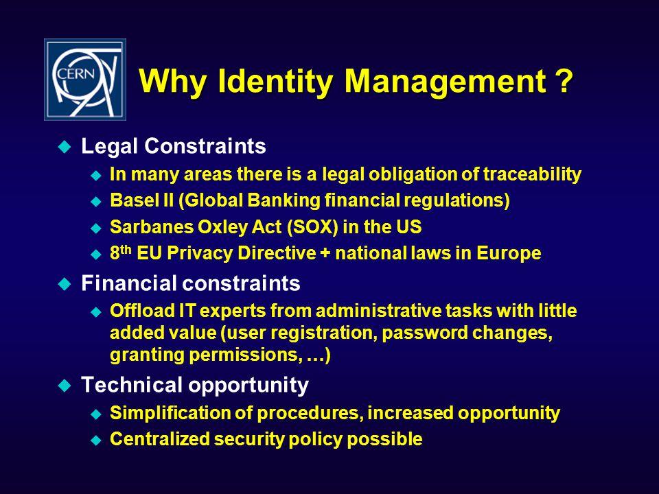 Why Identity Management