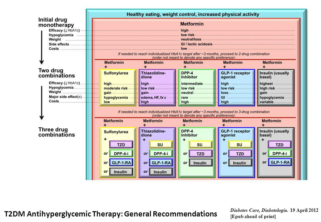 T2DM Antihyperglycemic Therapy: General Recommendations