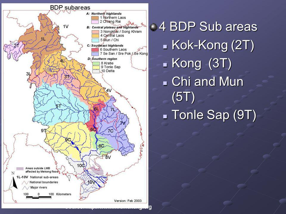 4 BDP Sub areas Kok-Kong (2T) Kong (3T) Chi and Mun (5T)
