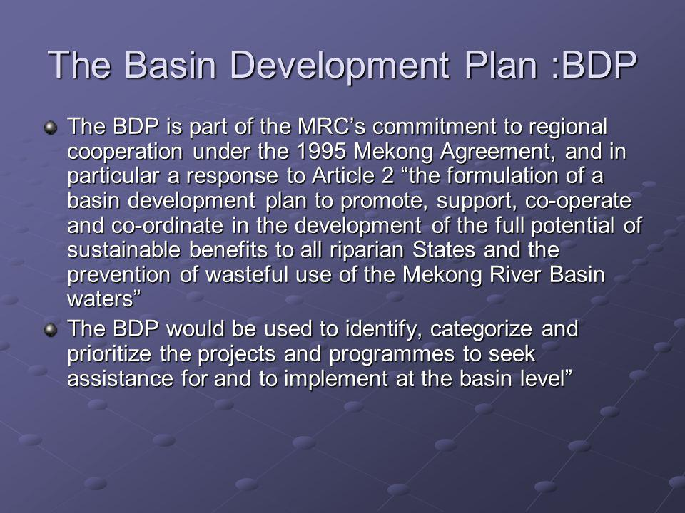 The Basin Development Plan :BDP