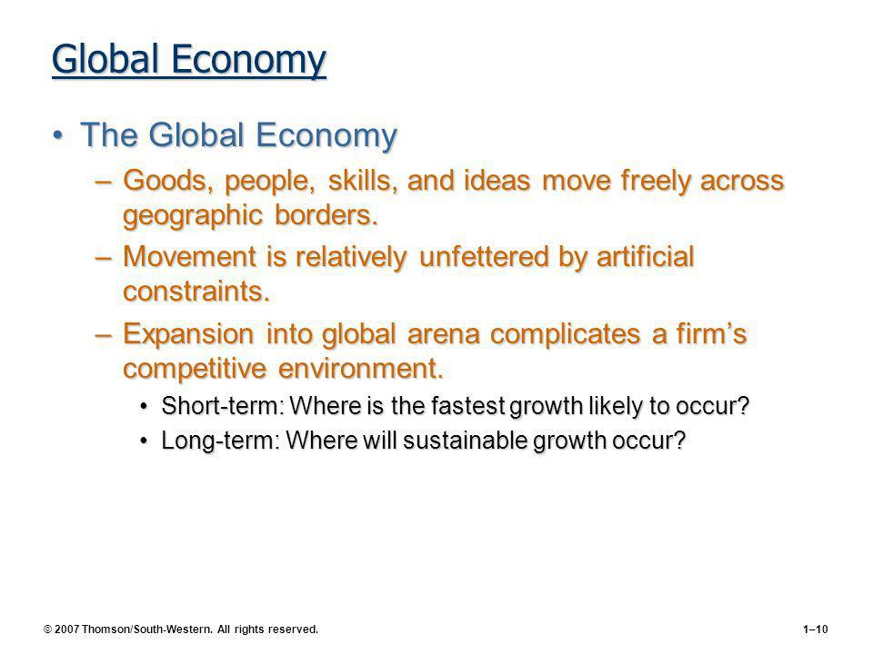 Global Economy The Global Economy