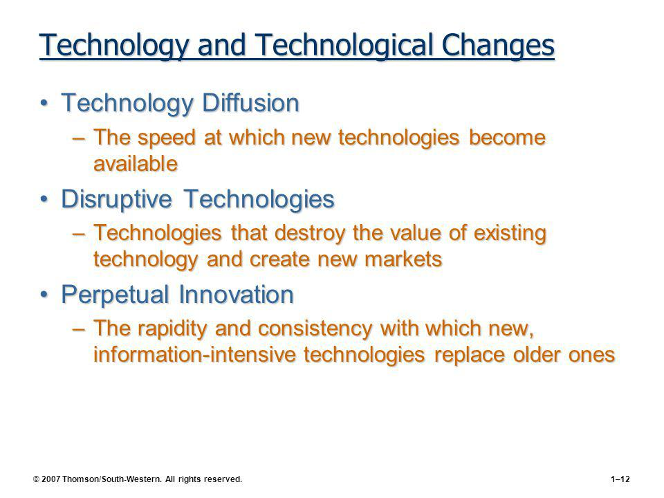 Technology and Technological Changes