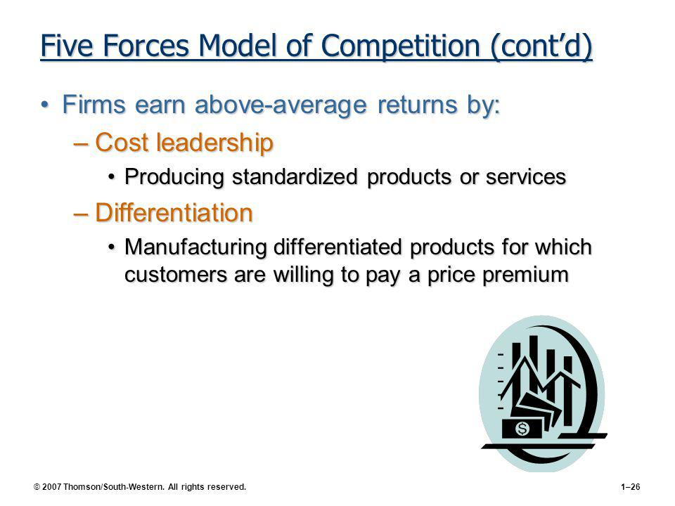 Five Forces Model of Competition (cont'd)