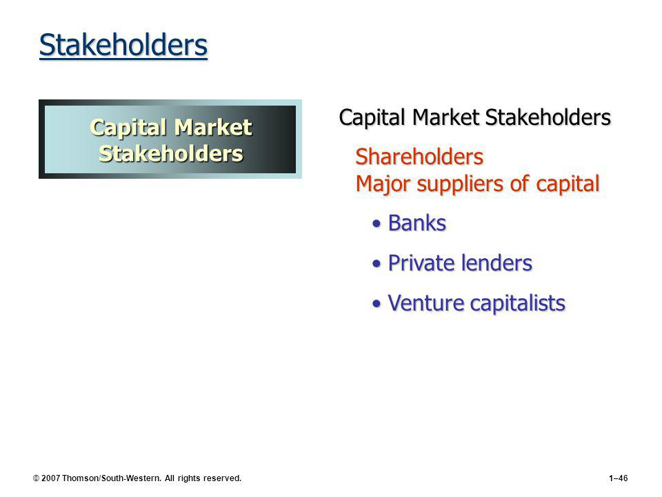 Capital Market Stakeholders