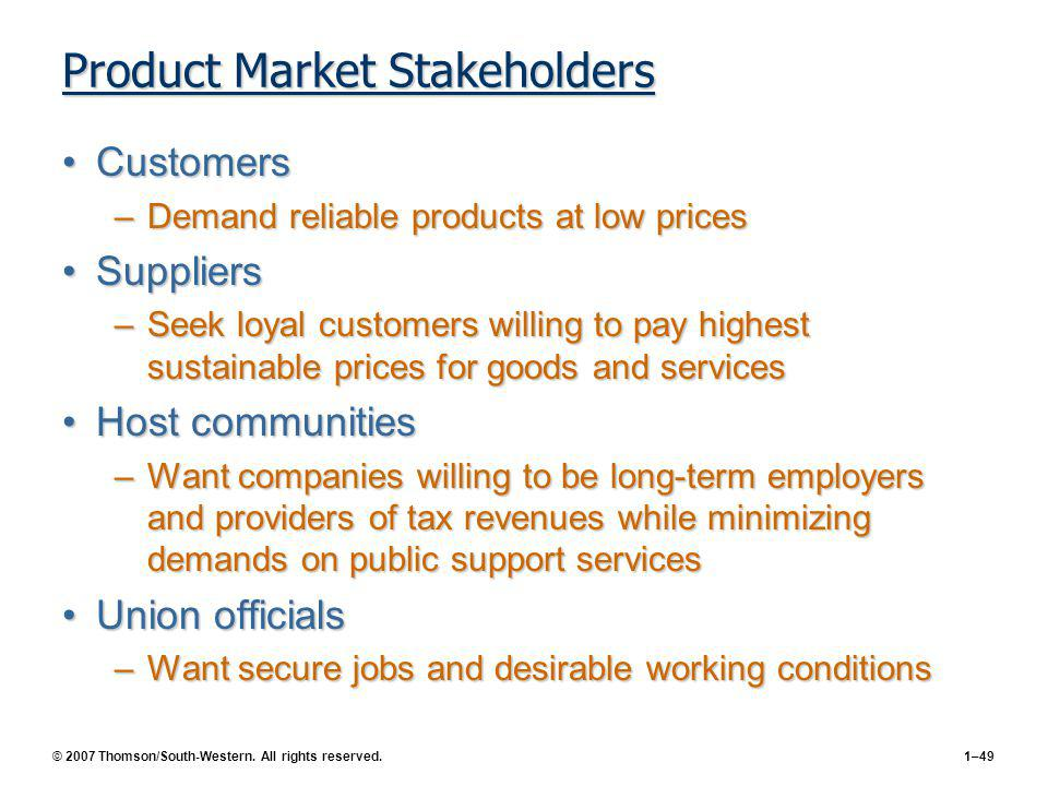Product Market Stakeholders