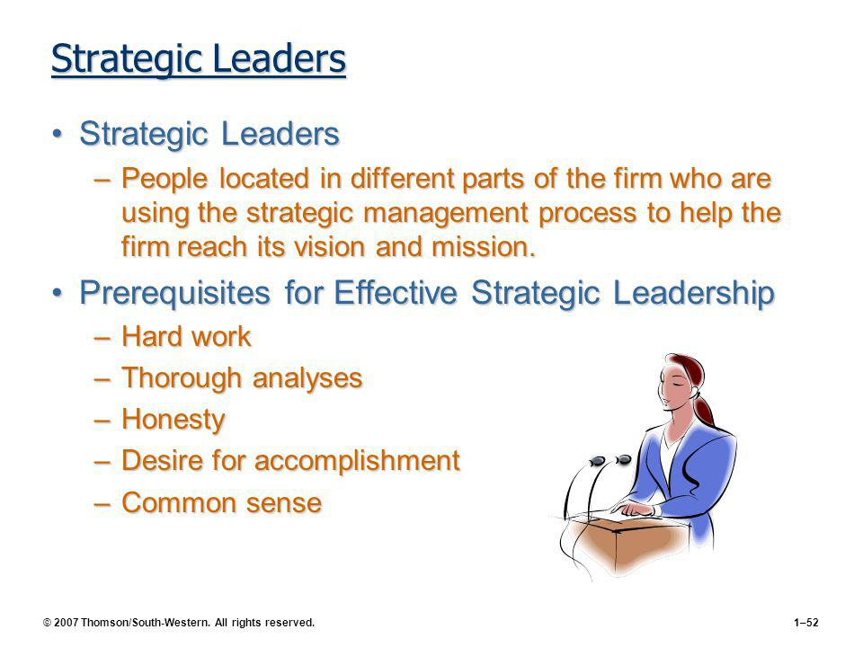 CHAPTER 1 Strategic Management and Strategic ...
