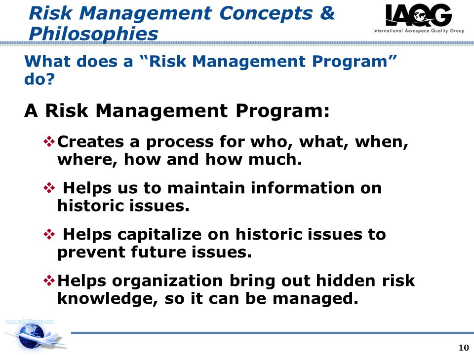 What does a Risk Management Program do