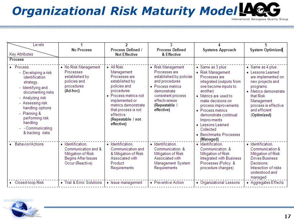 Organizational Risk Maturity Model