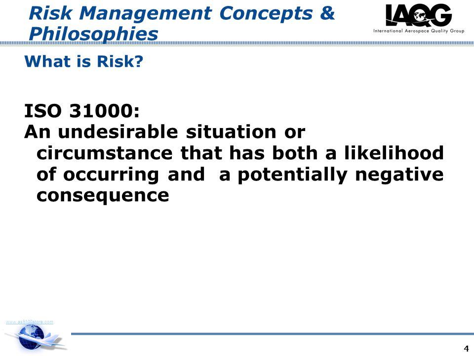 Risk Management Concepts & Philosophies