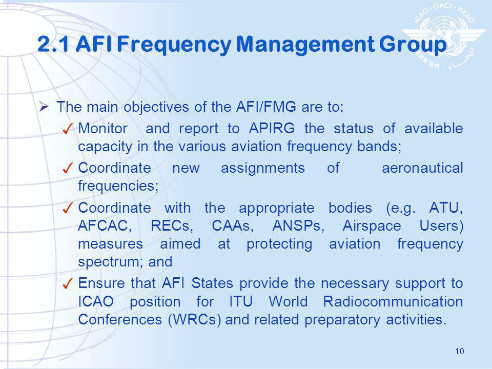 2.1 AFI Frequency Management Group