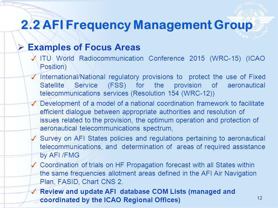 2.2 AFI Frequency Management Group