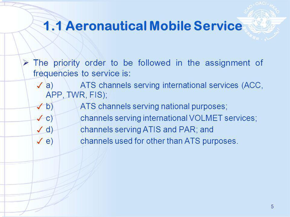 1.1 Aeronautical Mobile Service