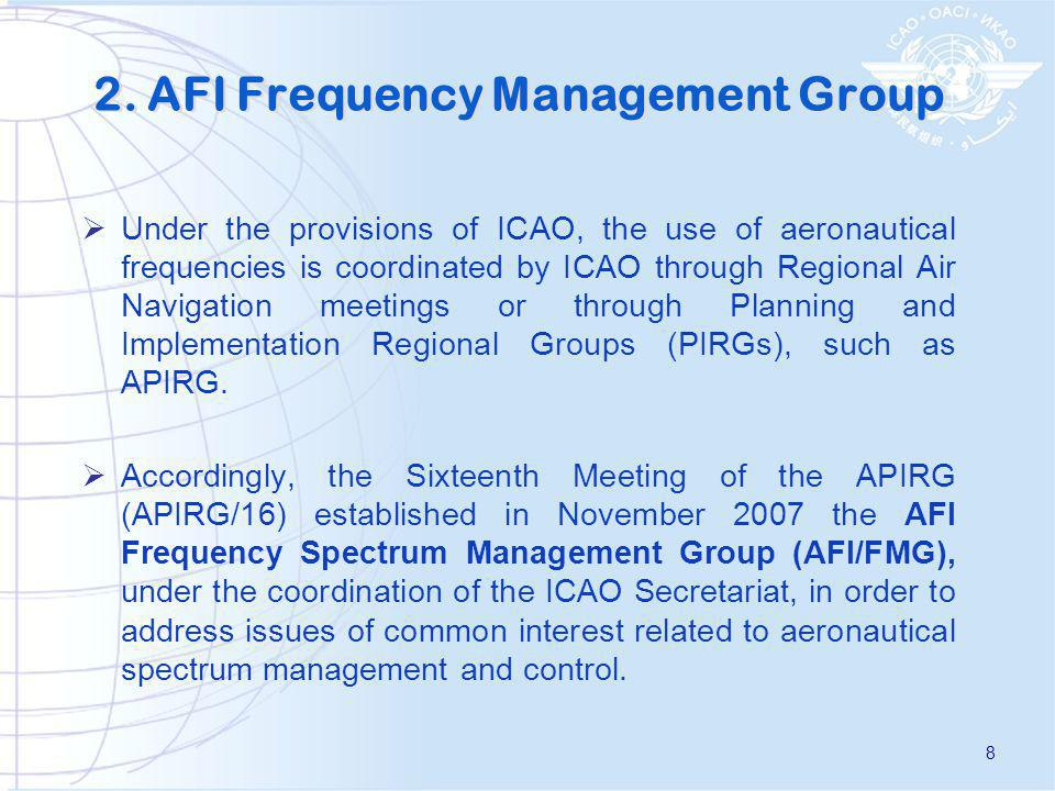 2. AFI Frequency Management Group