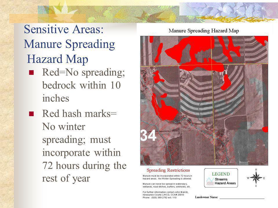Sensitive Areas: Manure Spreading Hazard Map