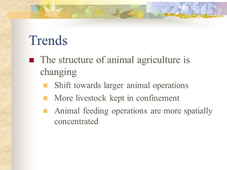 Trends The structure of animal agriculture is changing
