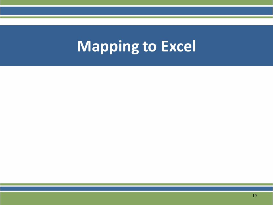 Mapping to Excel