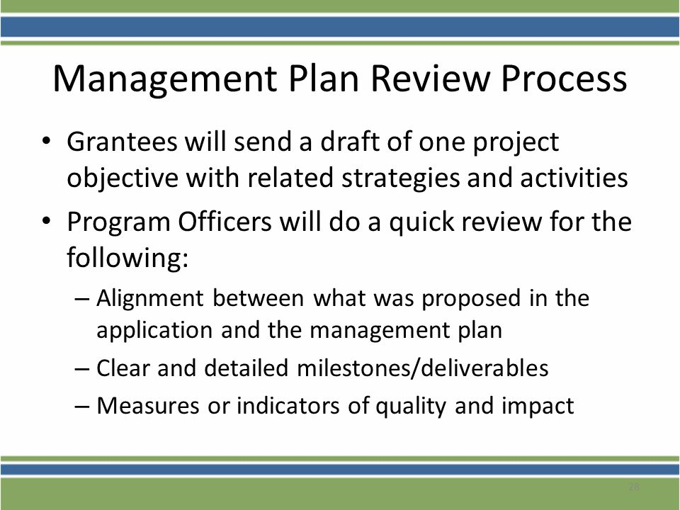 Management Plan Review Process