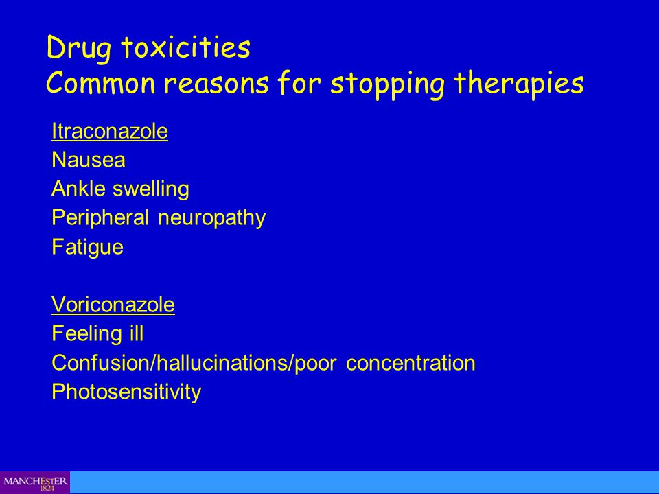 Common reasons for stopping therapies