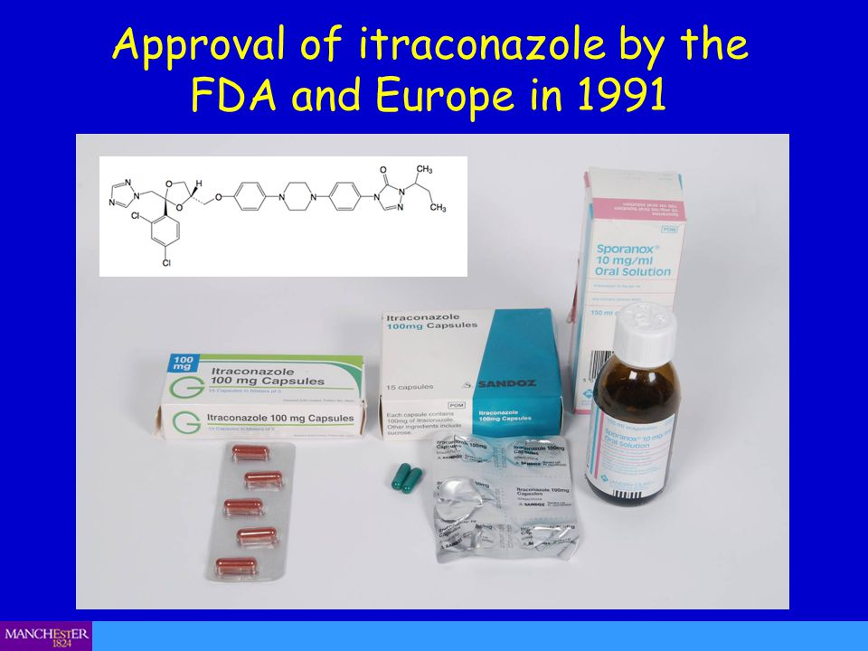 Approval of itraconazole by the FDA and Europe in 1991