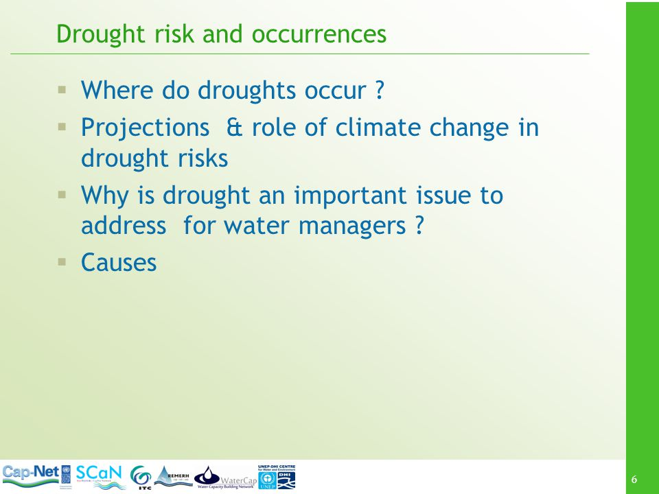 Drought risk and occurrences