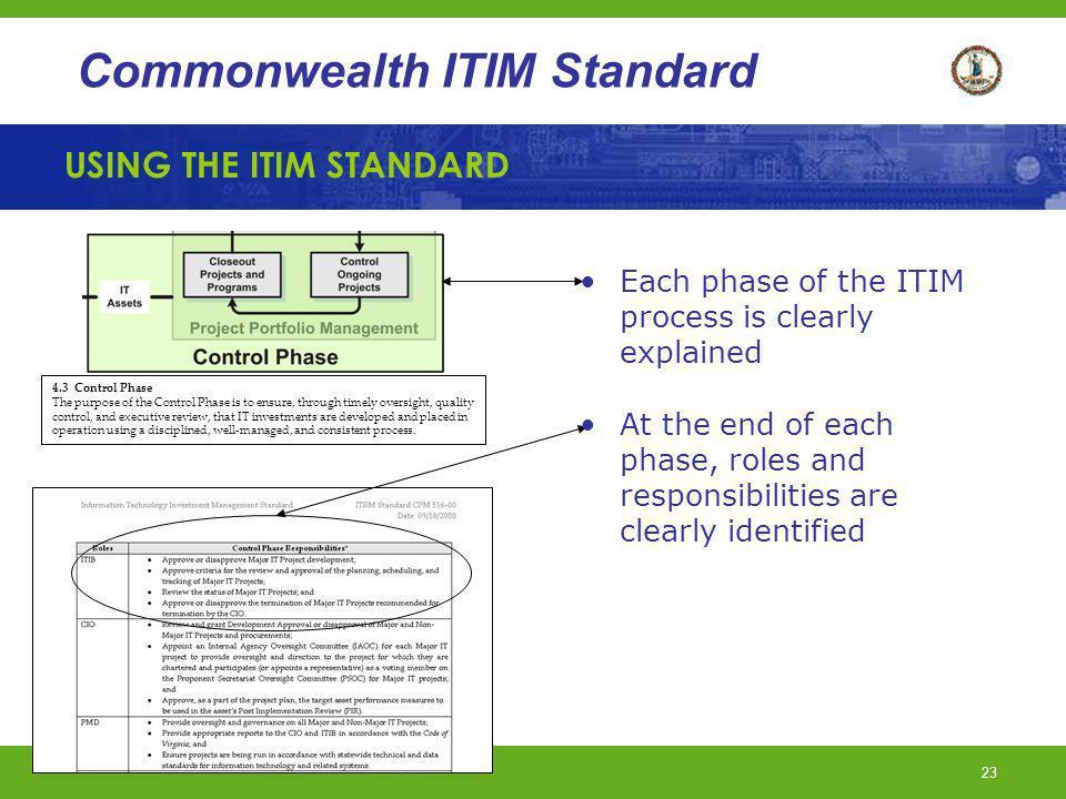 USING THE ITIM STANDARD