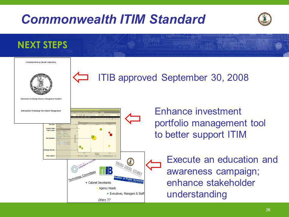 ITIB approved September 30, 2008
