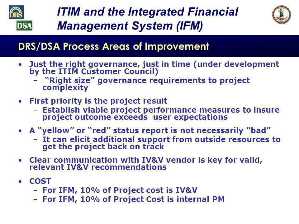 DRS/DSA Process Areas of Improvement