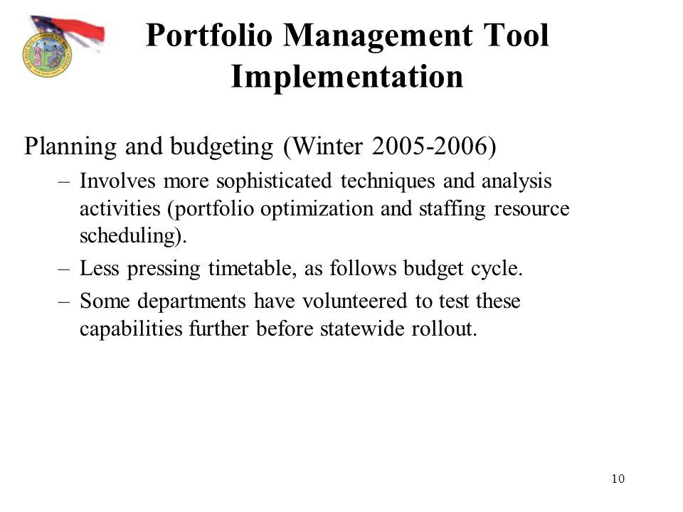Portfolio Management Tool Implementation