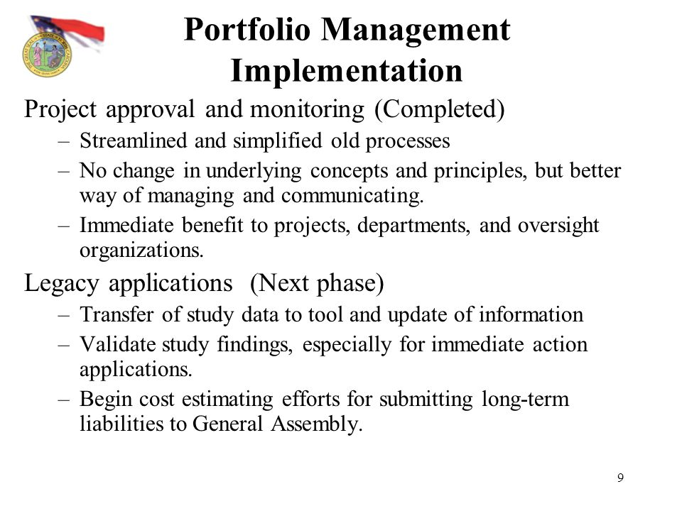 Portfolio Management Implementation