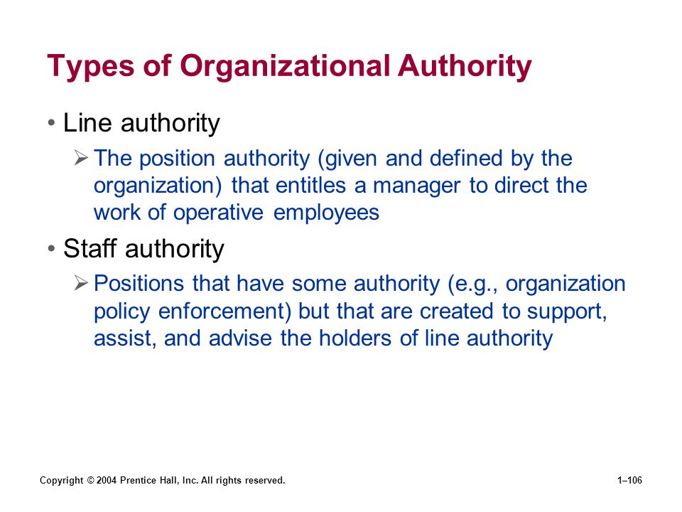 Types of Organizational Authority
