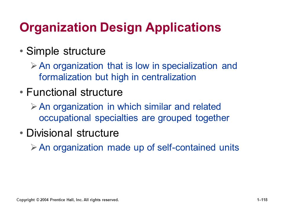 Organization Design Applications