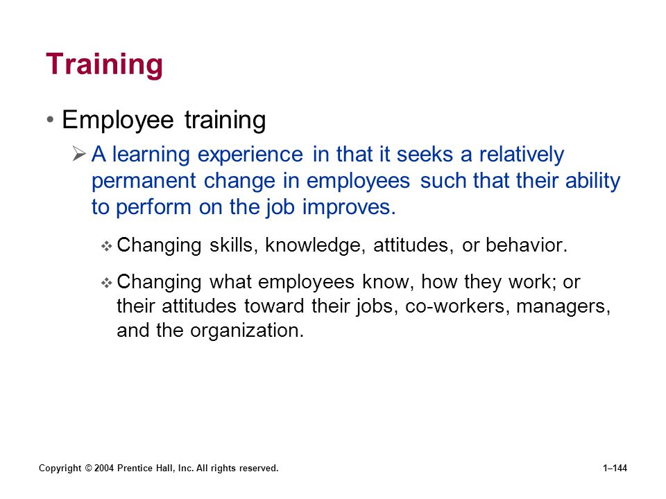 Training Employee training