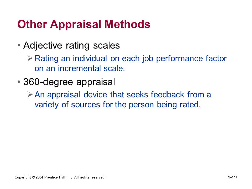 Other Appraisal Methods