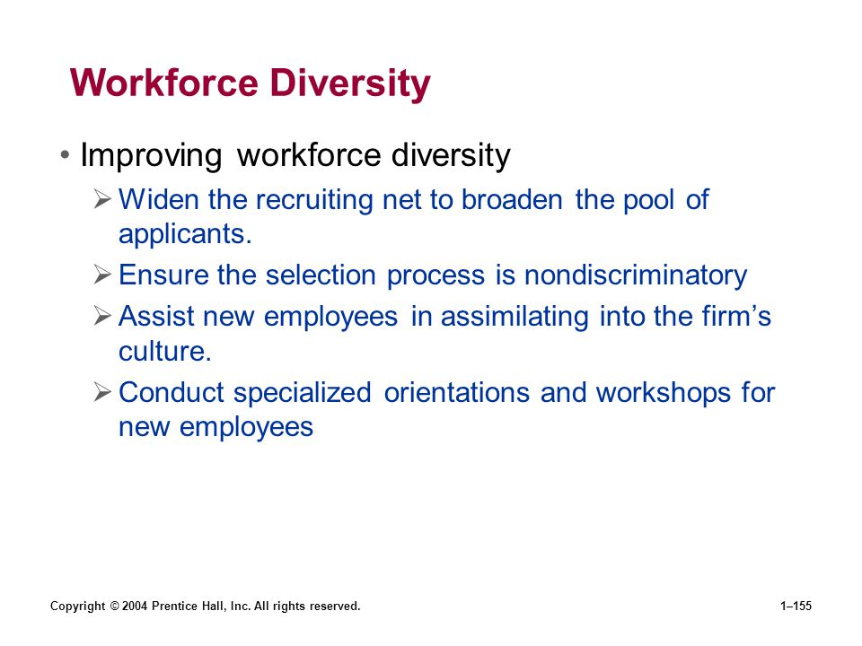 Workforce Diversity Improving workforce diversity