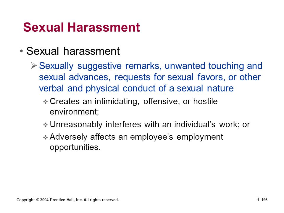 Sexual Harassment Sexual harassment