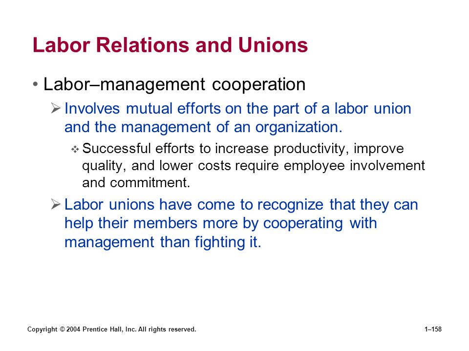 Labor Relations and Unions