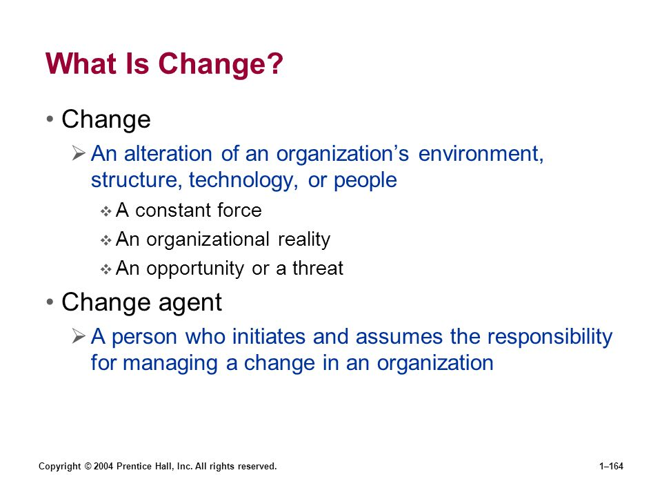 What Is Change Change Change agent