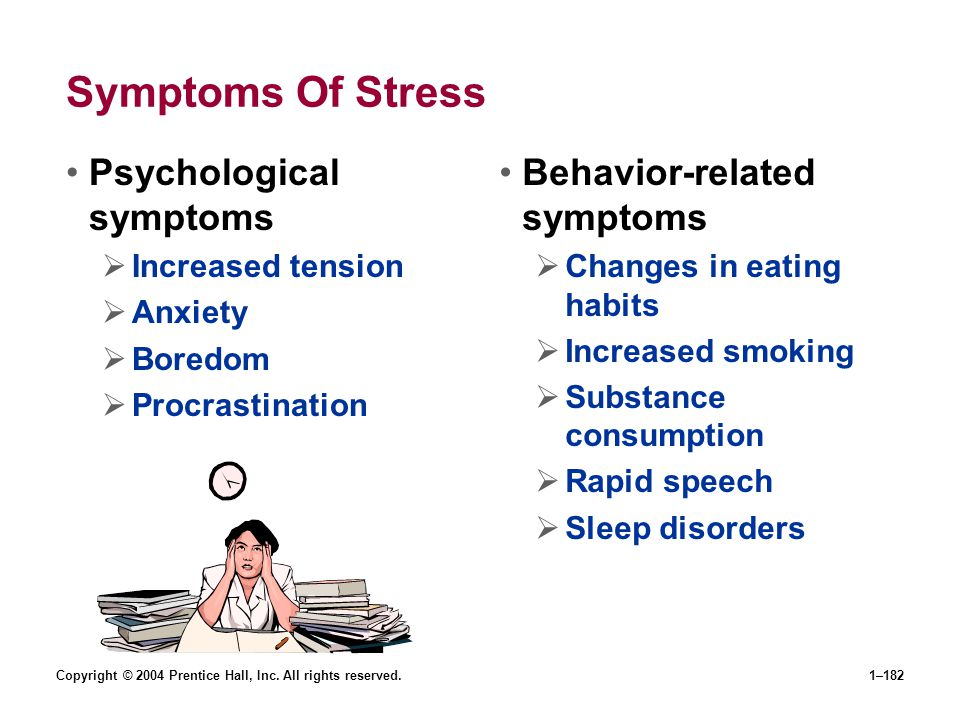Symptoms Of Stress Psychological symptoms Behavior-related symptoms