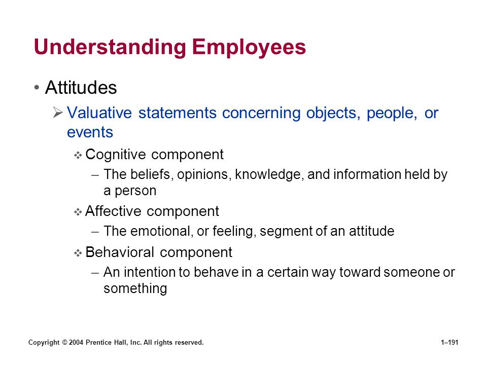 Understanding Employees