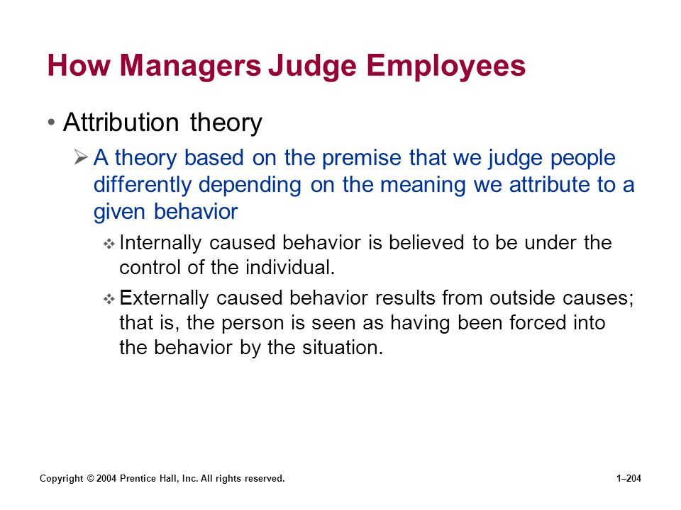 How Managers Judge Employees