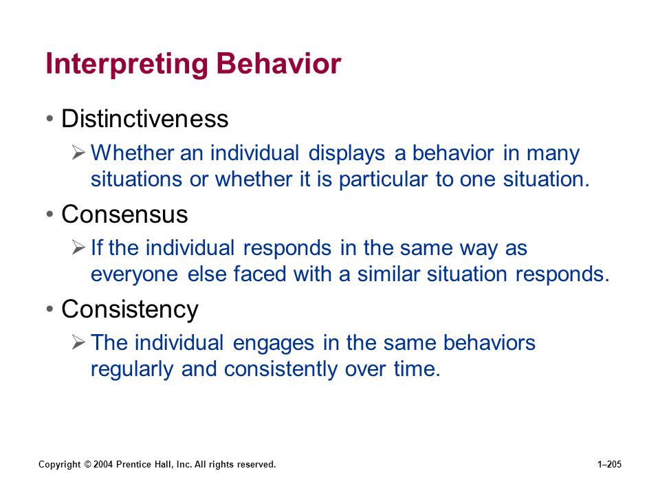 Interpreting Behavior