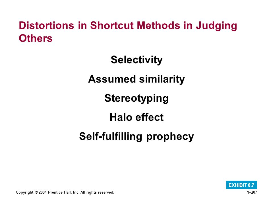 Distortions in Shortcut Methods in Judging Others