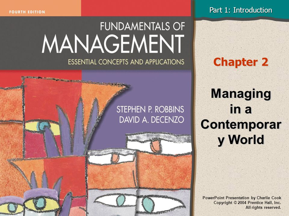 Managing in a Contemporary World
