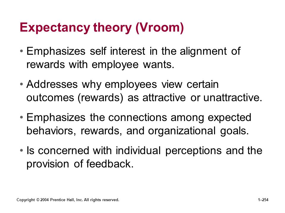 Expectancy theory (Vroom)