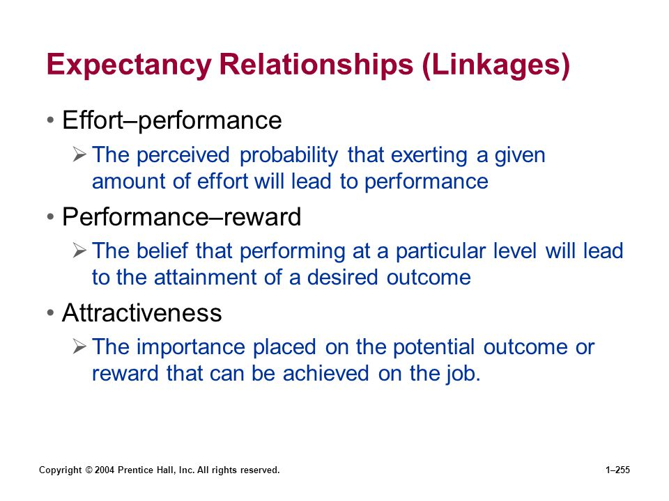 Expectancy Relationships (Linkages)