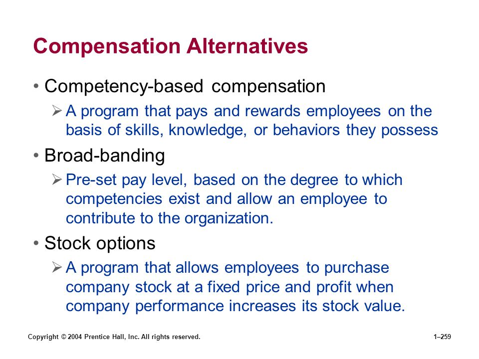 Compensation Alternatives