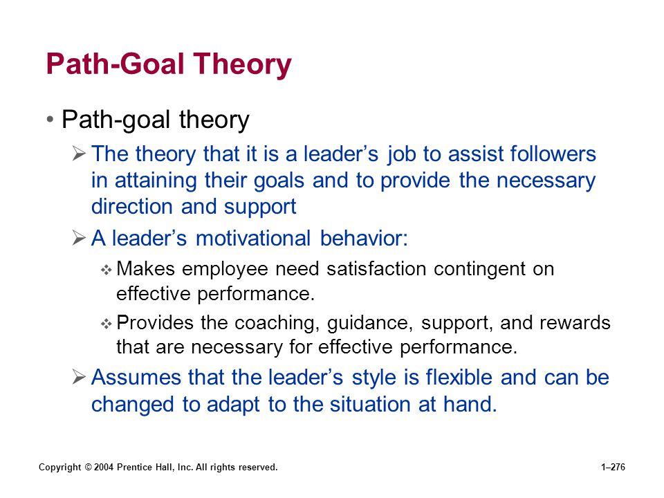 Path-Goal Theory Path-goal theory