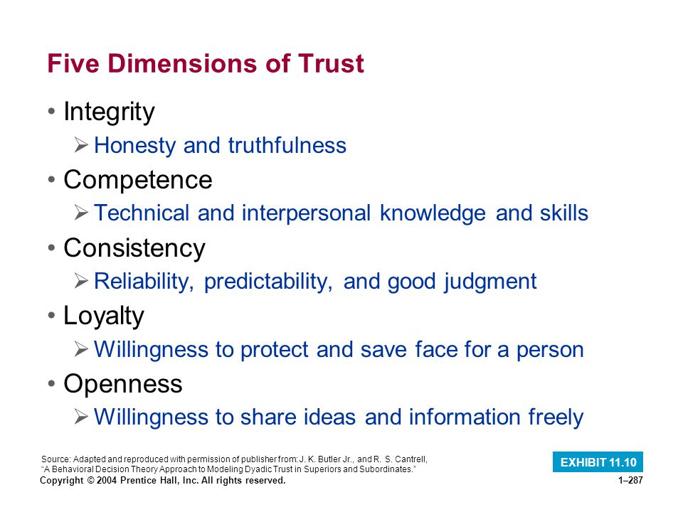 Five Dimensions of Trust