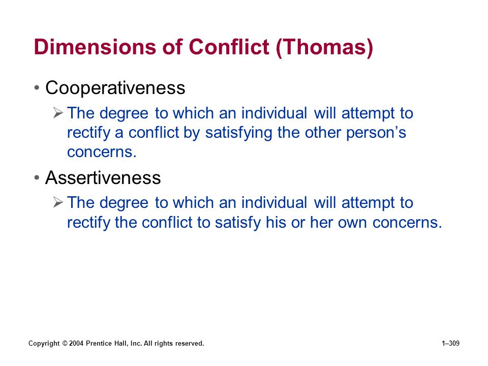 Dimensions of Conflict (Thomas)