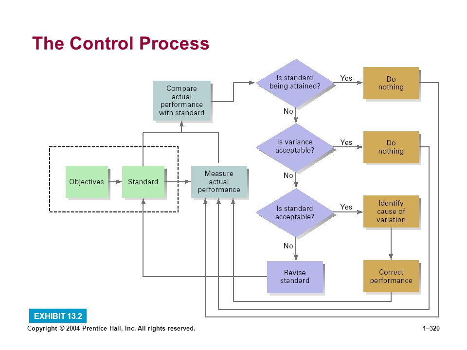 The Control Process EXHIBIT 13.2